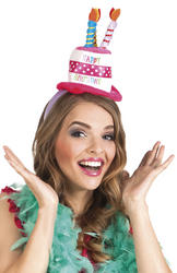 Happy Birthday Headband Costume Accessory