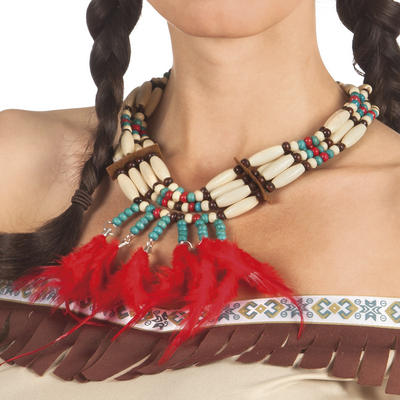 Indian Squaw Necklace Costume Accessory