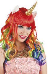 Unicorn Wig with Horn and Ears