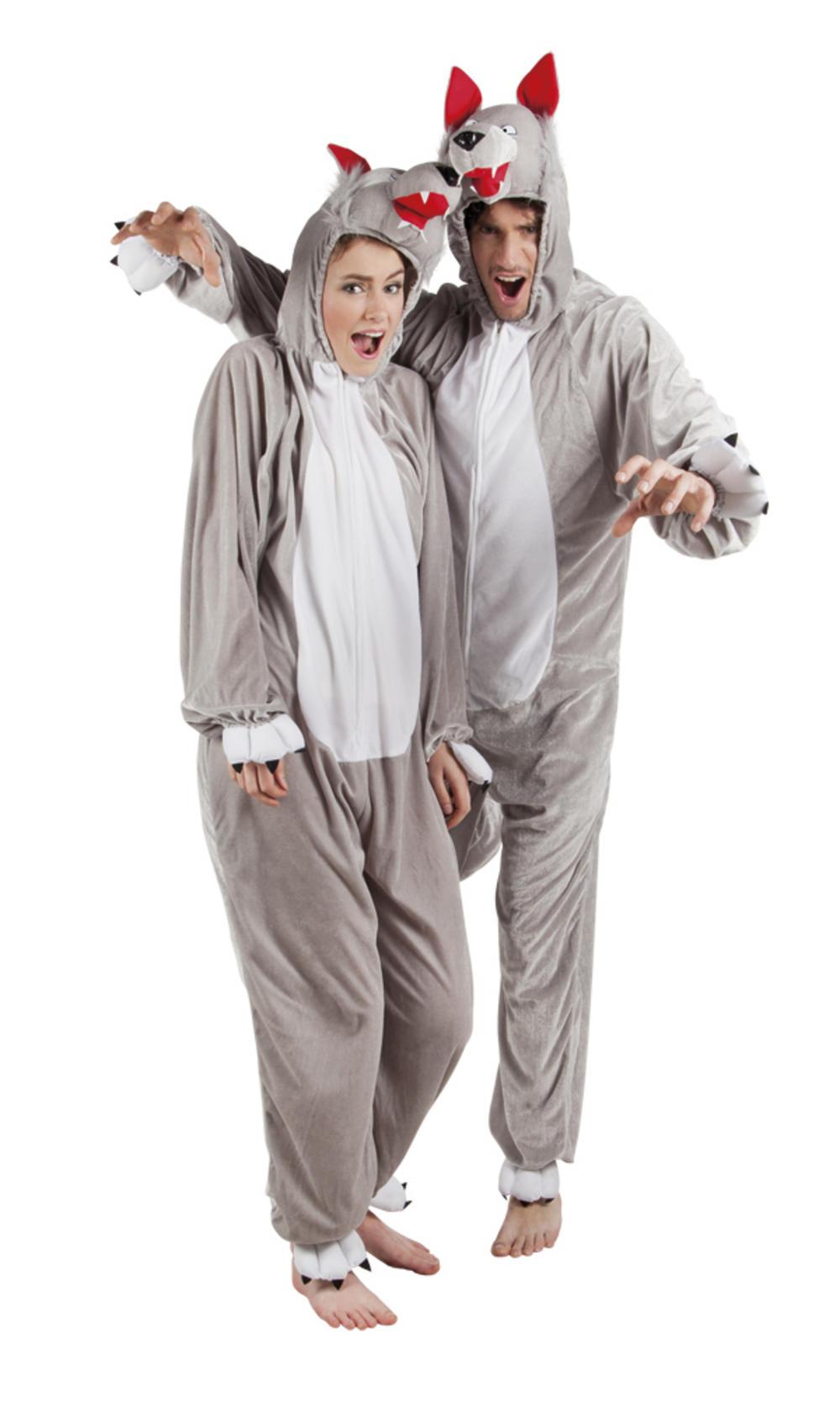 Plush Wolf Adults Costume