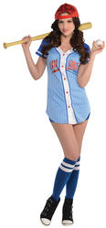 Baseball Babe Ladies Costume