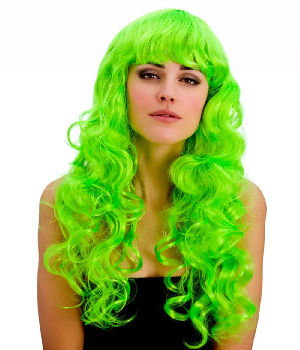 Neon Green Foxy Ladies Wig  de3433c1315f