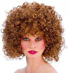 Brown 80s Disco Perm Ladies Wig