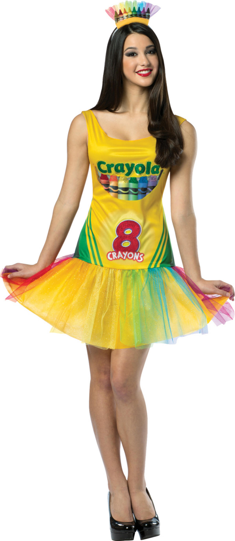 Crayola Crayon Box Tutu Dress Ladies Costume
