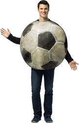 Realistic Football Mens Costume