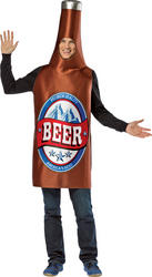 Brown Beer Bottle Mens Costume