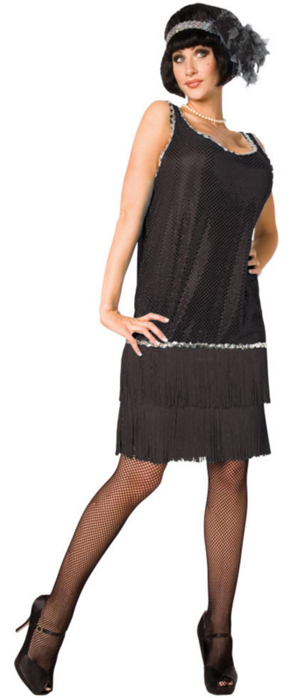 Black Flapper Ladies Costume