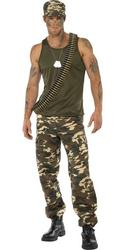 Khaki Camouflage Army Soldier Costume