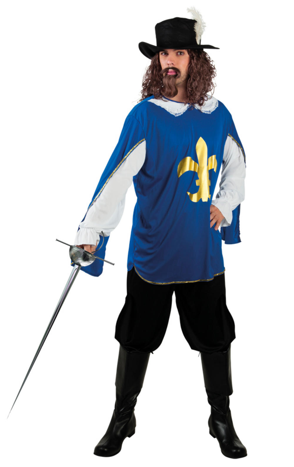 Blue Musketeer Lambert Mens Costume