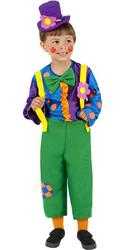 Mr Brighty Balloons Clown Boys Costume