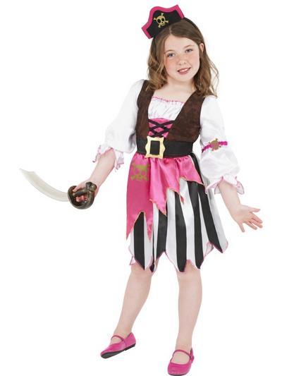 Girls' Pink Pirate Costume