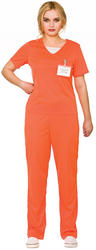 Orange Convict Ladies Costume