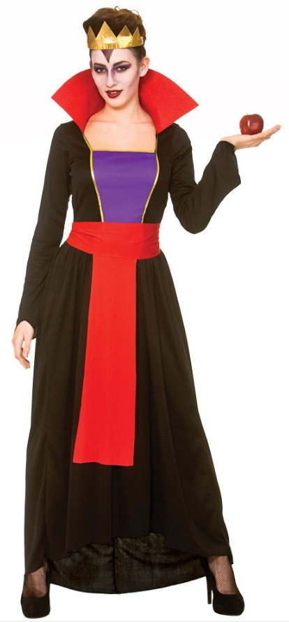 Details about Wicked Evil Queen Ladies Fancy Dress Halloween Villain Adults  Women Costume New