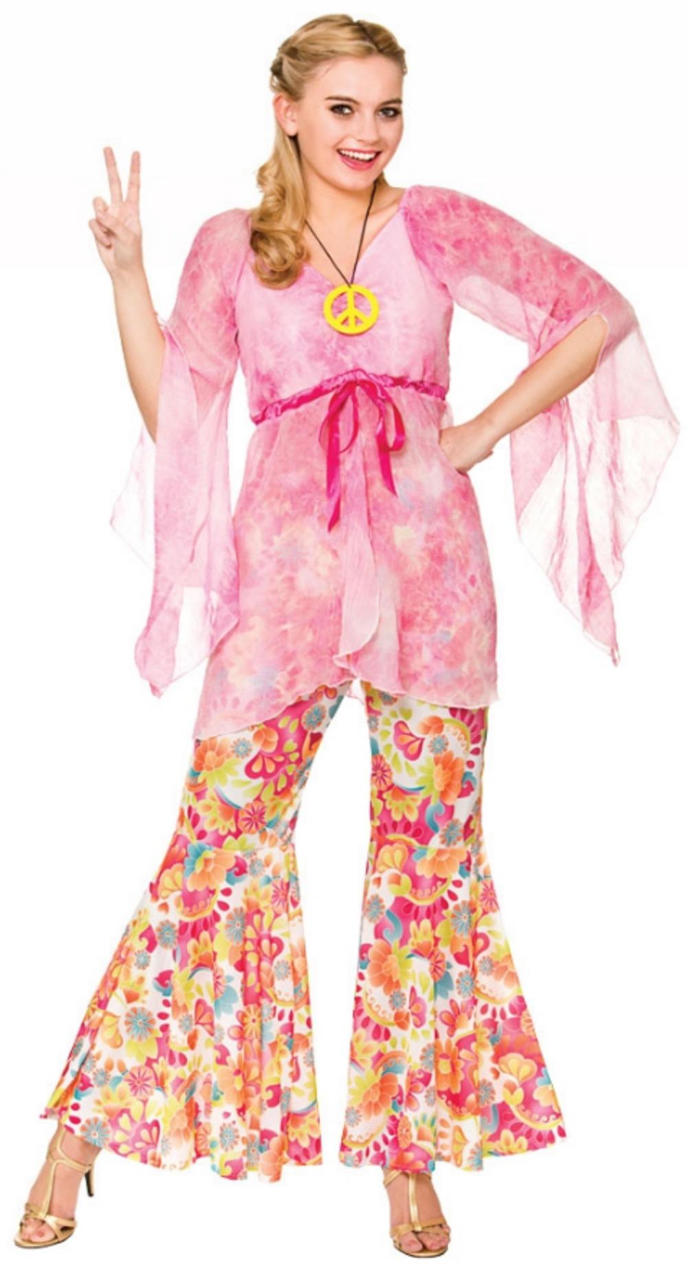 Groovy Hippie Ladies Fancy Dress