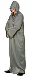 Grey Hooded Mens Robe