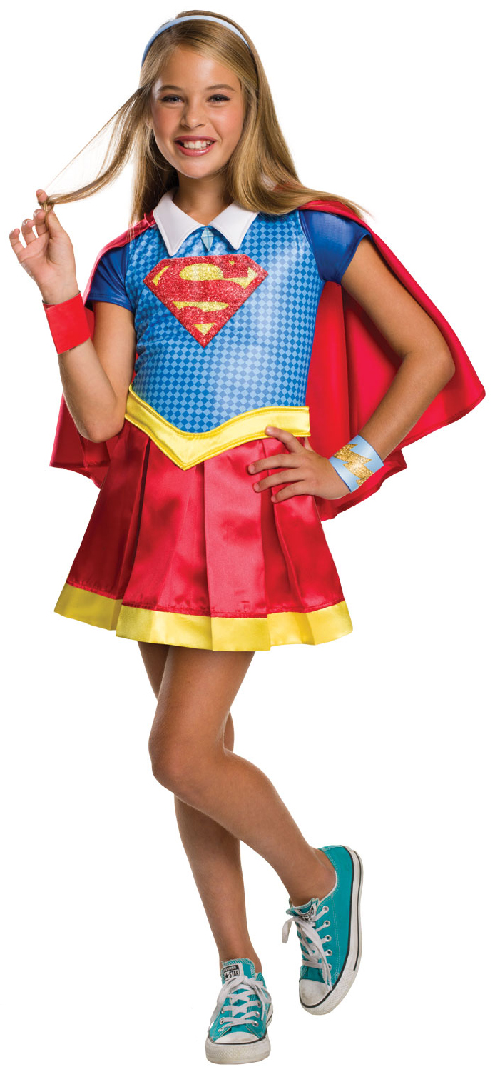 Halloween Kids Costumes Girls.Deluxe Supergirl Girls Costume