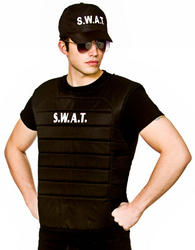 SWAT Vest Mens Costume Set