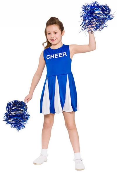 Blue Girls Cheerleader Costume