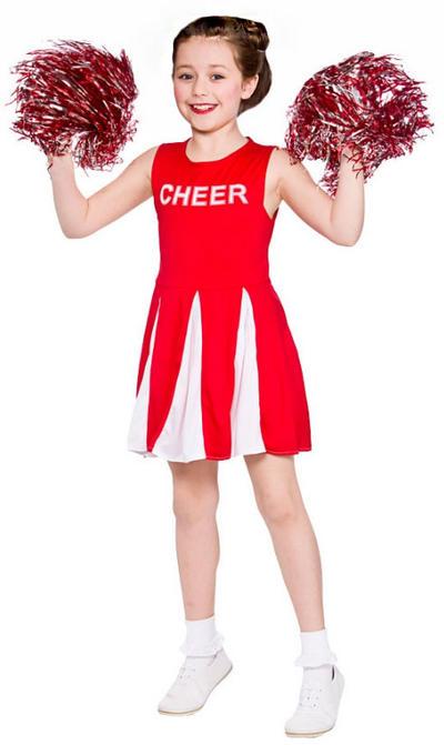 Red Girls Cheerleader Costume