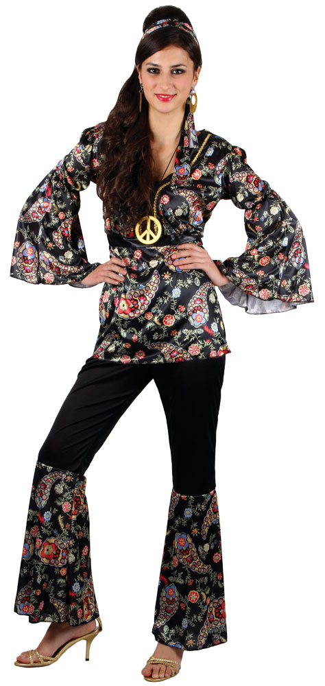 Sentinel Hippy Flares Top Outfit 60s 70s Fancy Dress Hippie Adult Ladies Costume 6