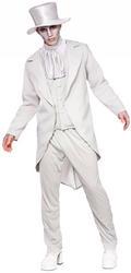 Ghastly Ghost Groom Mens Costume