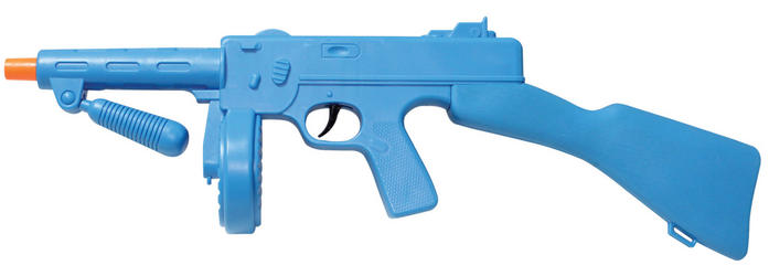 Blue Tommy Gun Costume Accessory