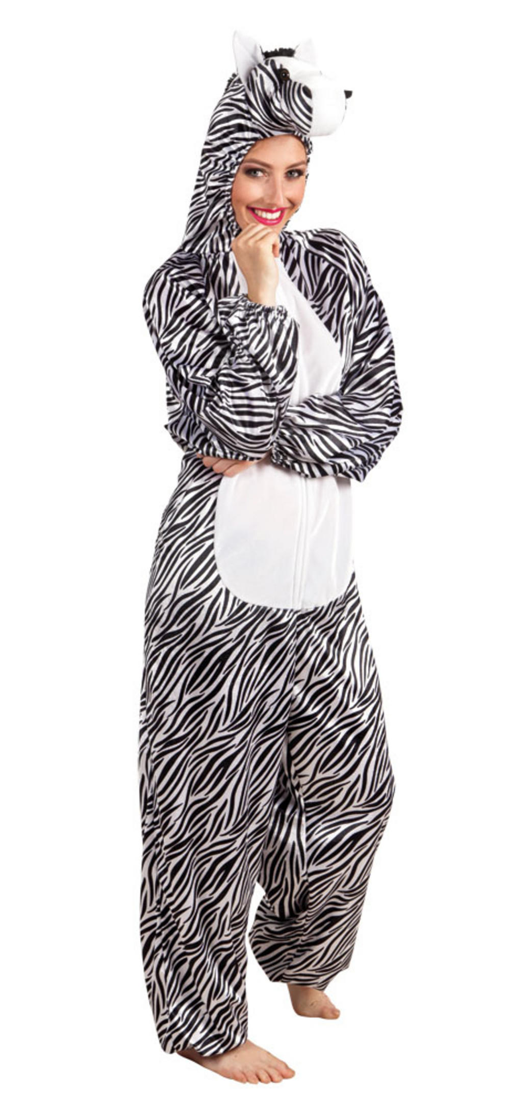 Plush Zebra Adults Costume