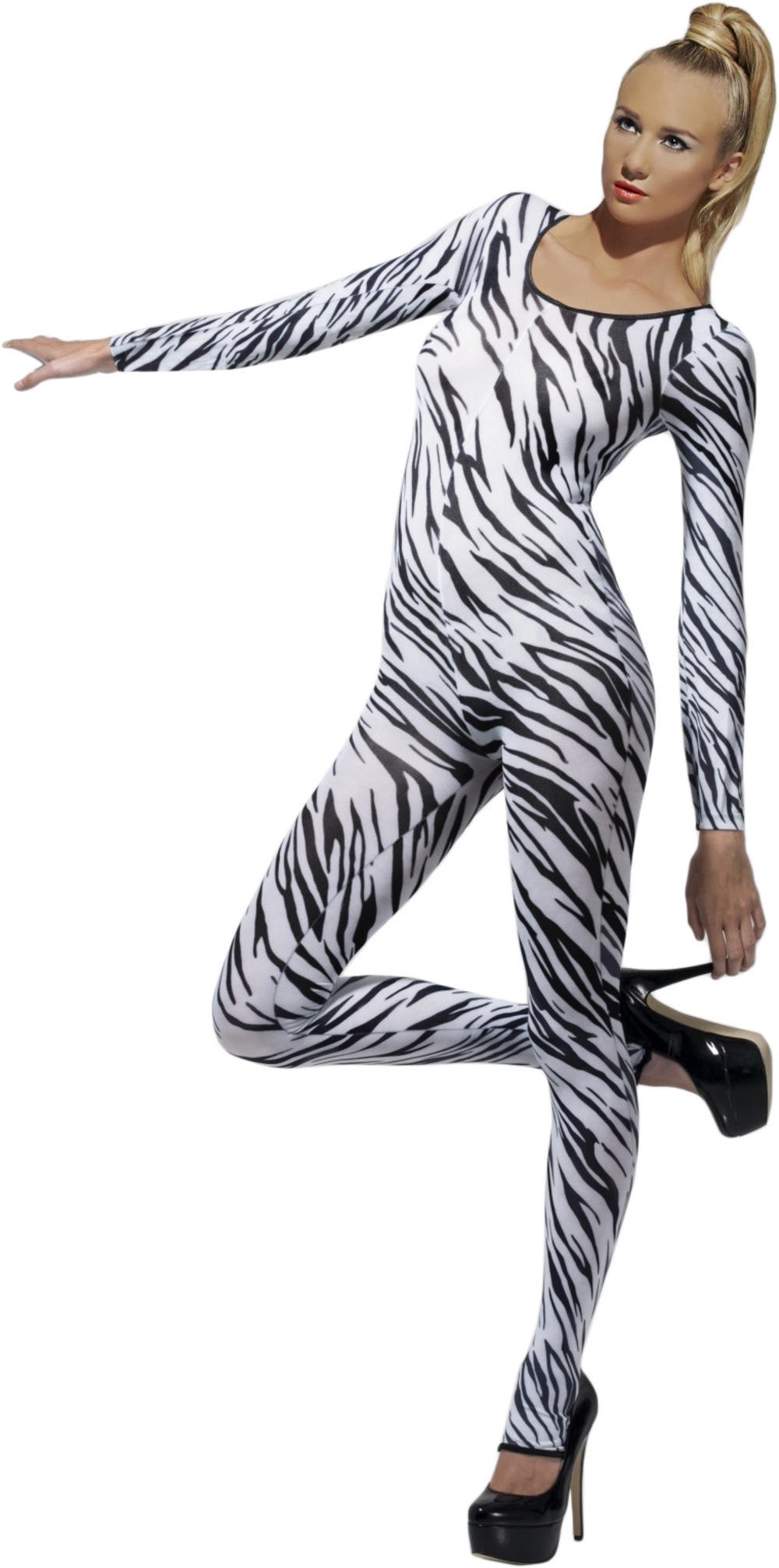 Zebra Bodysuit Ladies Costume
