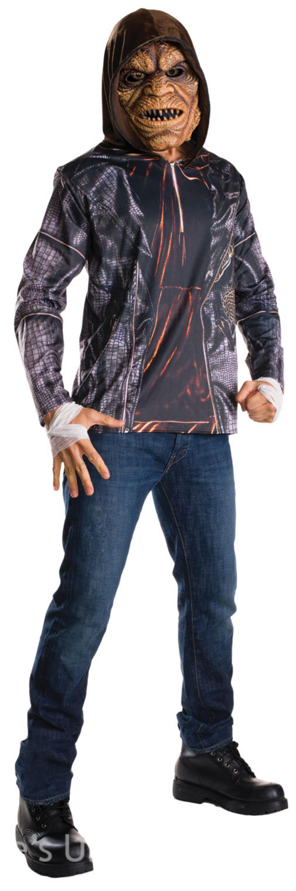Killer Croc Suicide Squad Mens Villain Fancy Dress