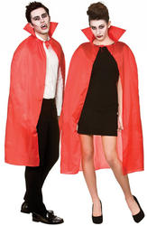 Red Cape with Collar Adults Costume Accessory