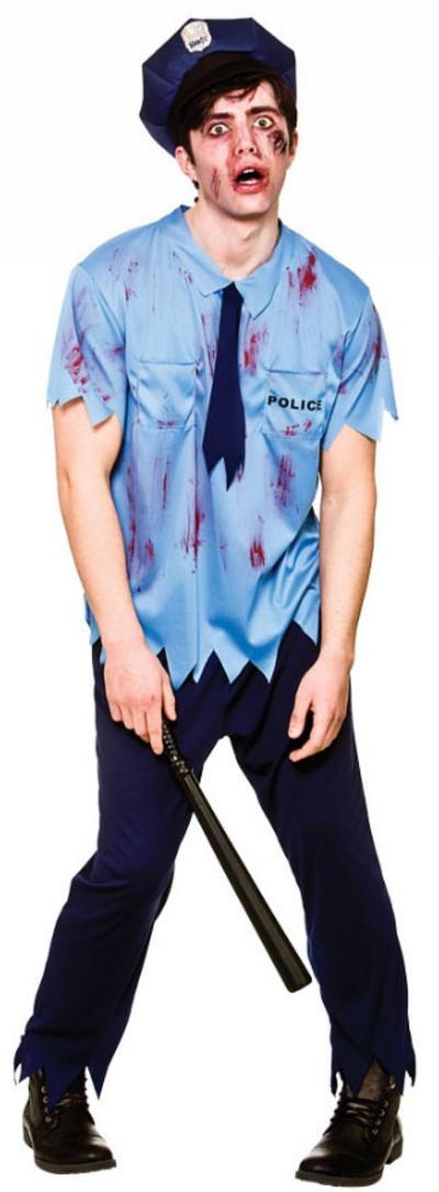 Zombie Cop Mens Costume