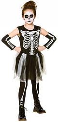Skelebones Girls Costume