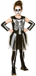 Skelebones Girls Costume