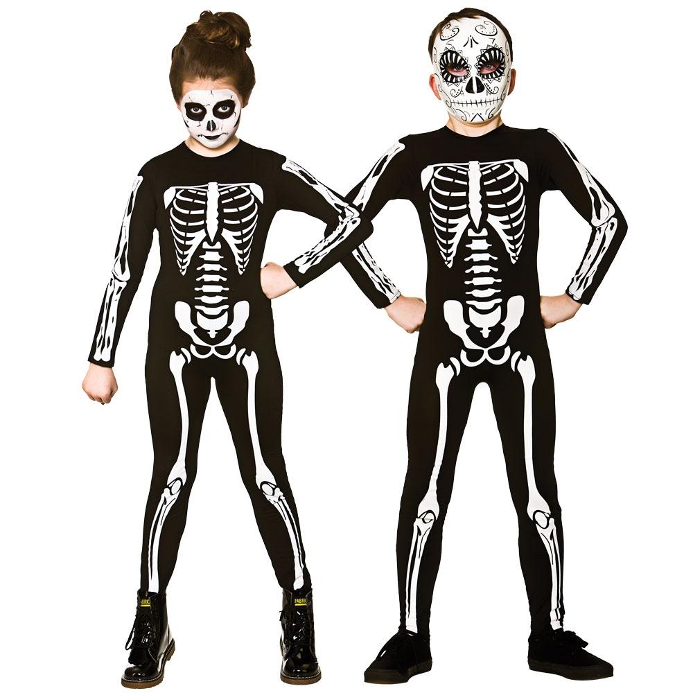 Halloween Skeleton Costume Kids.Skeleton Jumpsuit Kids Costume