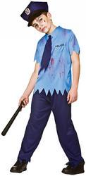 Zombie Cop Boys Costume