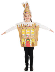 Gingerbread House Kids Costume