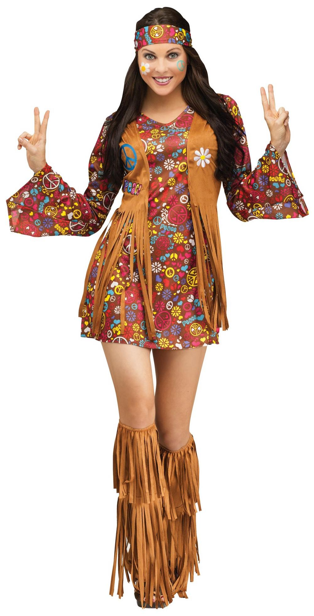 Peace & Love Hippie Ladies Costume