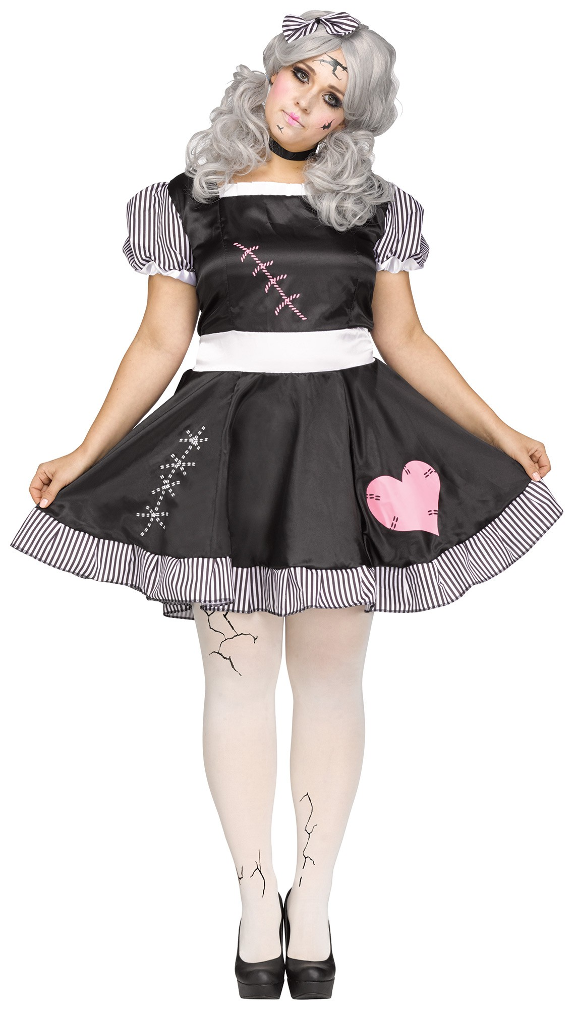 Broken Doll Ladies Plus Size Costume All Ladies Halloween Costumes