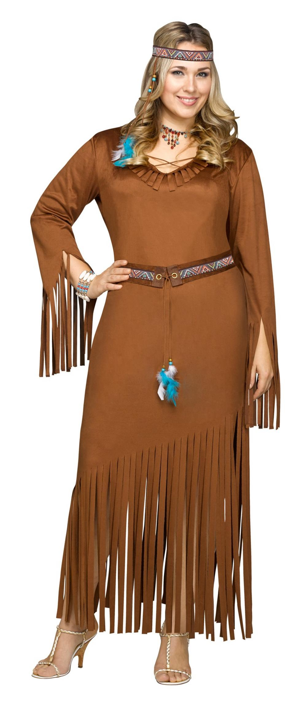 Indian Summer Ladies Plus Size Costume