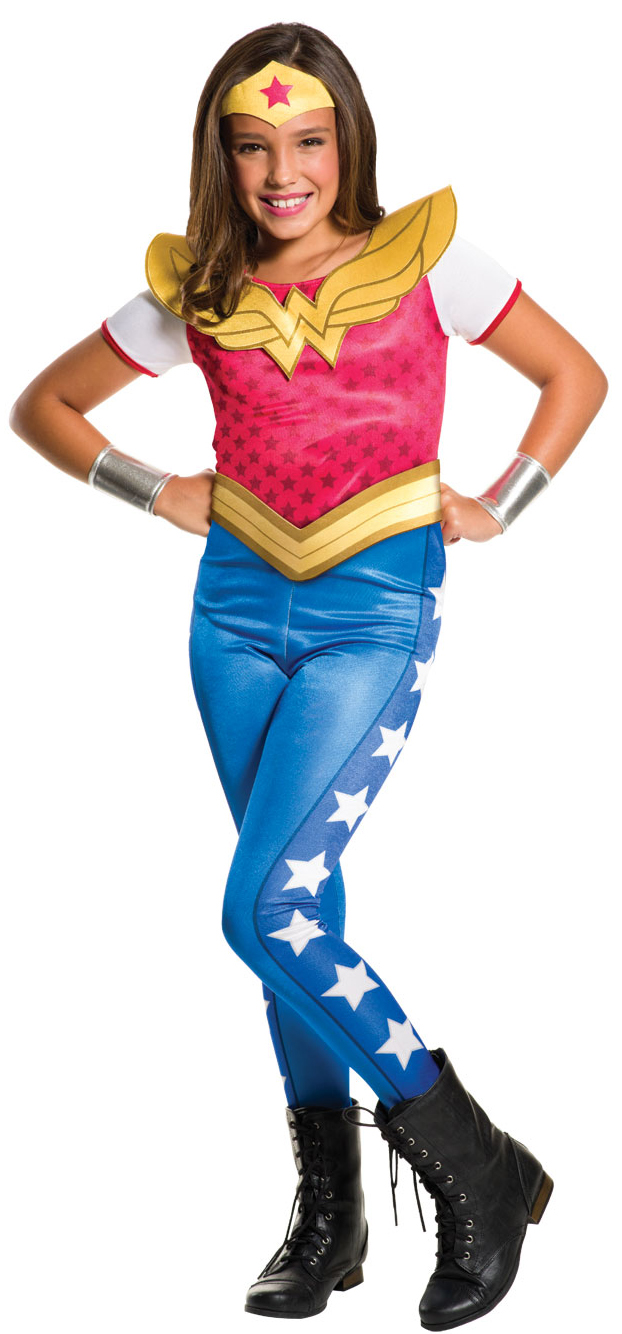 Kids Superhero Costumes. Perfect for superhero themed fancy dress parties, Halloween and more, kids can transform into Batman, Superman, Spiderman with boy's and girl's versions of the iconic character costumes from the wildly popular DC Comics and Marvel movie and comic book franchises.