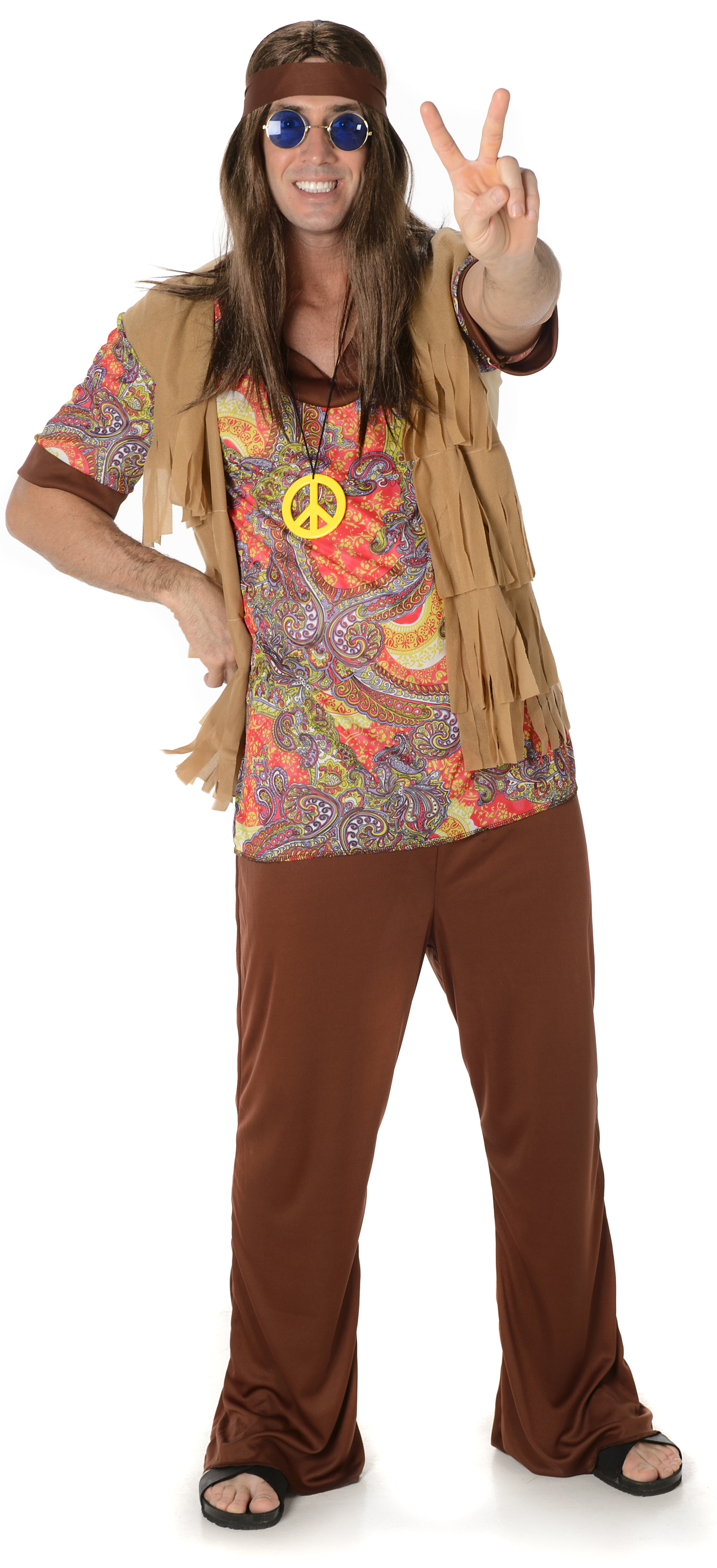 Groovy Hippie Man Mens Costume  sc 1 st  Mega Fancy Dress & Groovy Hippie Man Mens Costume | 60s Costumes | Mega Fancy Dress