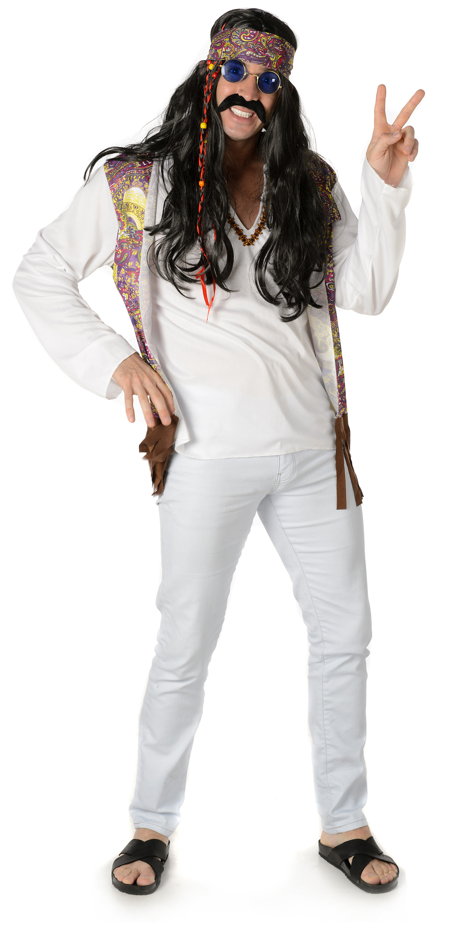 Funky Hippie Man Mens Costume 60s Costumes Mega Fancy