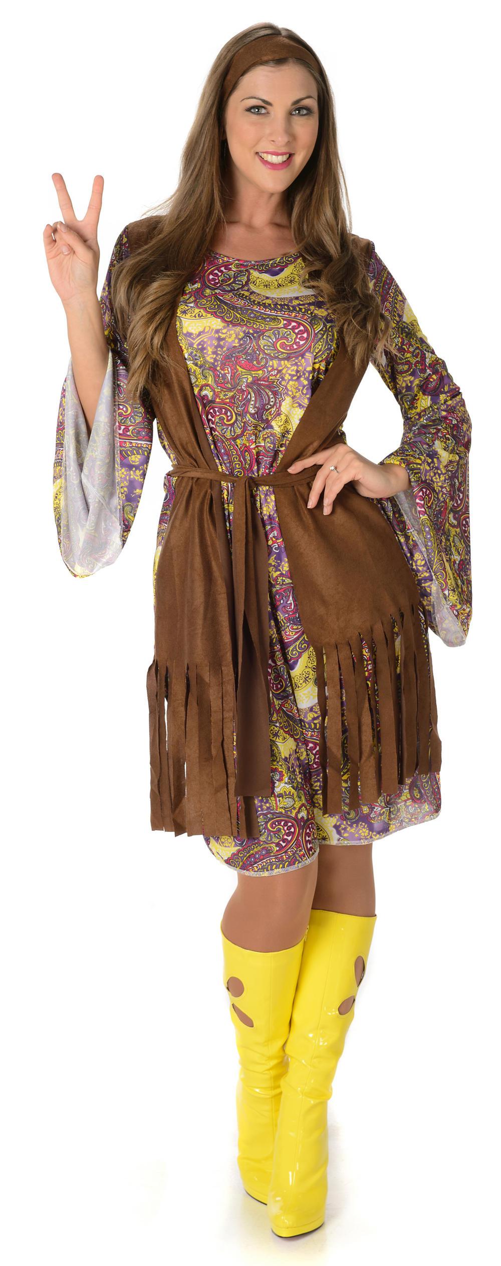 Funky Hippie Ladies Costume All Ladies Costumes Mega