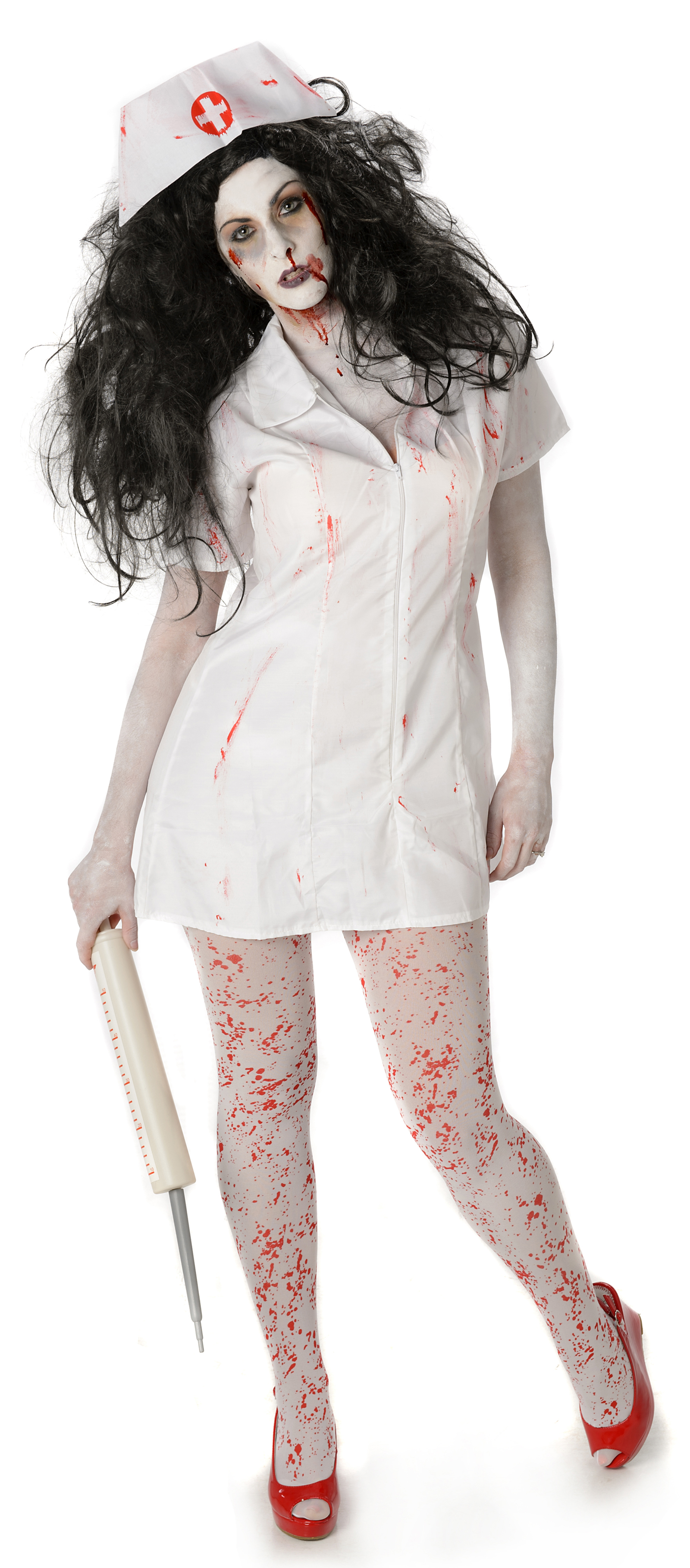 1e8a1b214f324 Psycho Zombie Nurse | All Ladies Halloween Costumes | Mega Fancy Dress