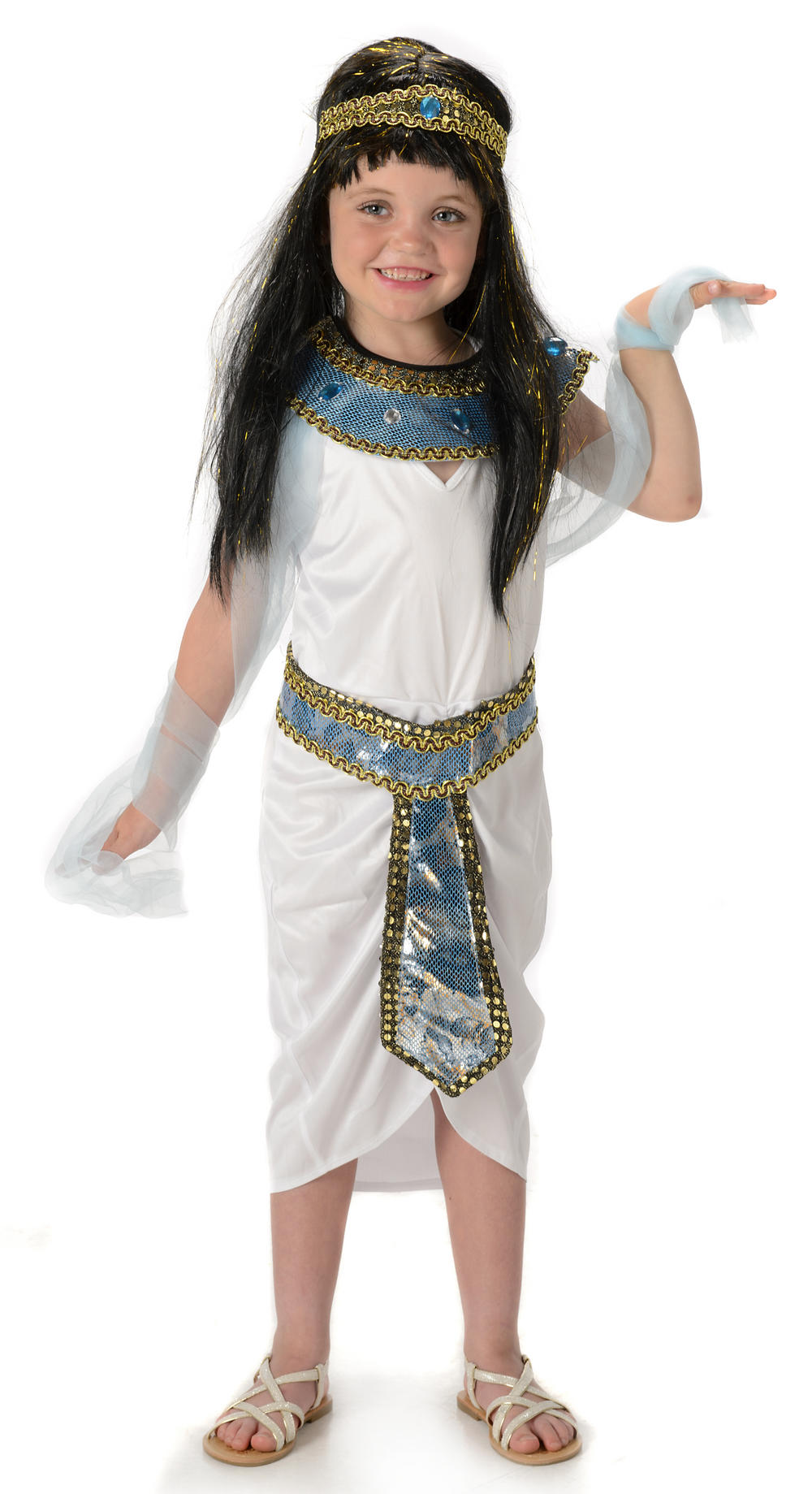 Queen Cleopatra Girls Costume Kinder Karneval Kost 252 Me