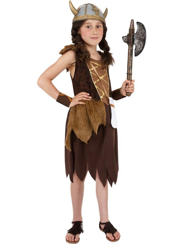 Sentinel Viking Girls Fancy Dress Saxon Medieval World Book Day Childresn  Kid Costume New