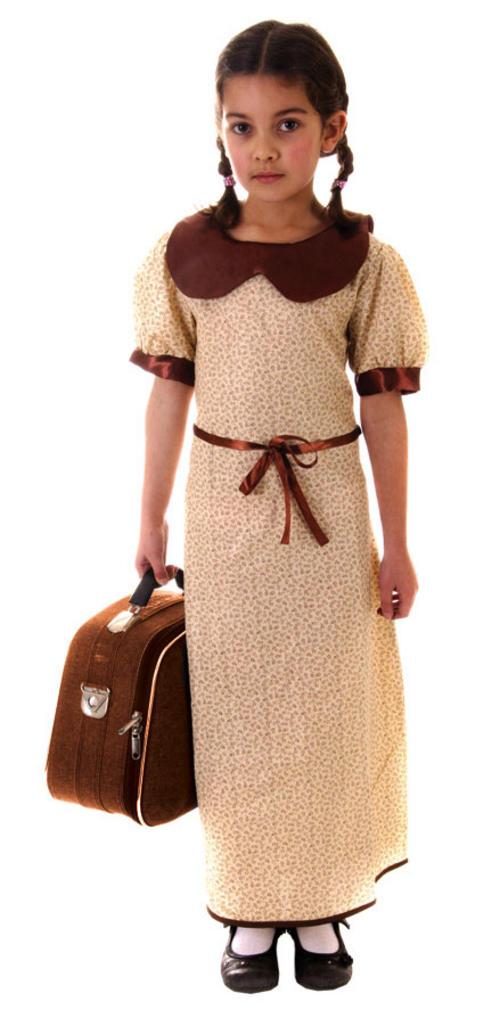 Girlsu0027 WW2 Evacuee Costume  sc 1 st  Mega Fancy Dress & Girlsu0027 WW2 Evacuee Costume | TV Book and Film Costumes | Mega Fancy ...