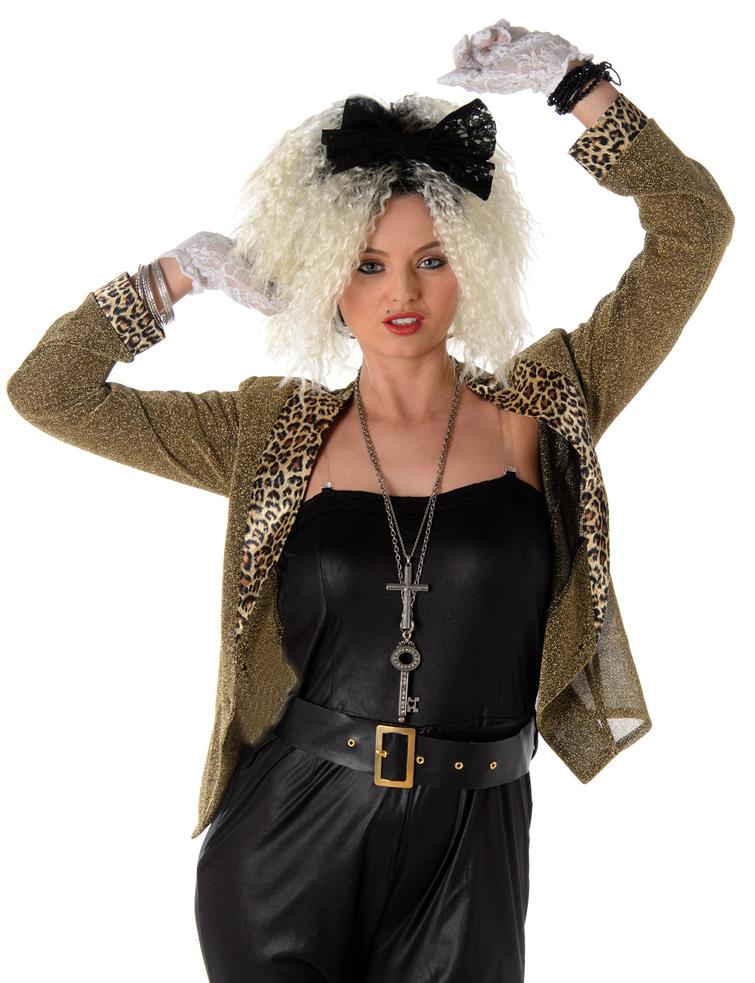 Sentinel 80s Mega Pop Star Fancy Dress Ladies 1980s Madonna Celebrity Women Adult Costume  sc 1 st  eBay & 80s Mega Pop Star Fancy Dress Ladies 1980s Madonna Celebrity Women ...