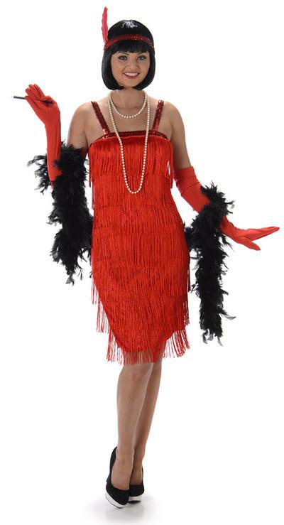 Red Flapper Ladies Costume