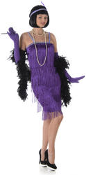 Purple Flapper Ladies Costume